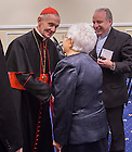 Jan. 27, 2014; Maria Voce chats with His Eminence Jean-Louis Cardinal Tauran at the Notre Dame Rome Centre.<br /> <br /> Photo by Matt Cashore/University of Notre Dame