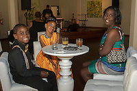 Tye'on Grant, Ahshai Gray and Margaritte Gray attend CoachArt Children's Benefit at Terra Gallery on May 1, 2014. (Photo by Alex Shonkoff/Guest Of A Guest)