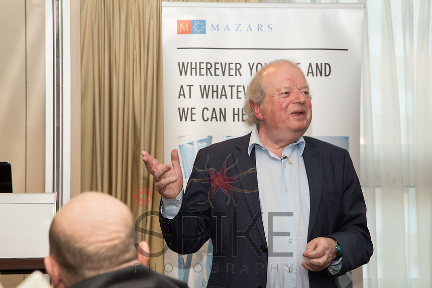 Keynote speaker John Sergeant at the Nottingham City Business Club Christmas Lunch