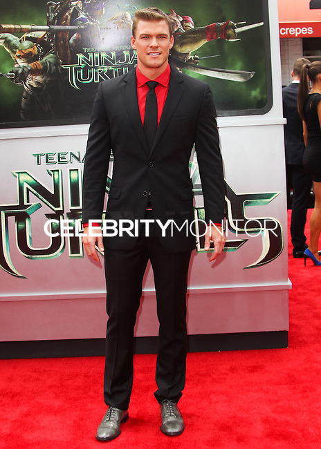 WESTWOOD, LOS ANGELES, CA, USA - AUGUST 03: Alan Ritchson at the Los Angeles Premiere Of Paramount Pictures' 'Teenage Mutant Ninja Turtles' held at Regency Village Theatre on August 3, 2014 in Westwood, Los Angeles, California, United States. (Photo by Celebrity Monitor)