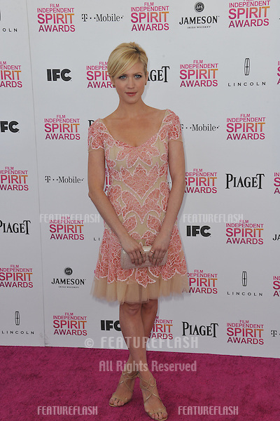 Brittany Snow at the 2013 Film Independent Spirit Awards on the beach in Santa Monica..February 23, 2013  Santa Monica, CA.Picture: Paul Smith / Featureflash