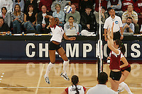 3 December 2005: Franci Girard during Stanford's 3-1 loss to Santa Clara University at Maples Pavilion in Stanford, CA.