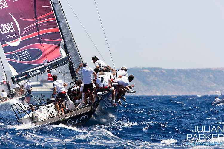 General Views of racing, on the second day of The Copa Del Rey sailing regatta, in Palma, Mallorca.