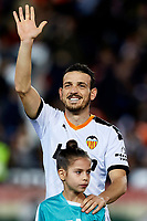 1st February 2020; Mestalla, Valencia, Spain; La Liga Football,Valencia versus Celta Vigo; Florenzi of Valencia greets the crowd prior to the game