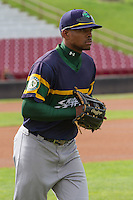 Beloit Snappers outfielder James Harris (2) prior to a Midwest League game against the Wisconsin Timber Rattlers on May 30th, 2015 at Fox Cities Stadium in Appleton, Wisconsin. Wisconsin defeated Beloit 5-3 in the completion of a game originally started on May 29th before being suspended by rain with the score tied 3-3 in the sixth inning. (Brad Krause/Four Seam Images)