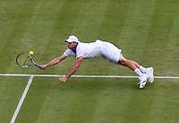 LONDRES, INGLATERRA, 27 JUNHO 2012 - TORNEIO DE WIMBLEDON - O tenista Andy Roddick  durante torneio de Wimbledon, em Londres, Inglaterra, nesta quarta-feira, 27. (FOTO: PIXATHLON / BRAZIL PHOTO PRESS).