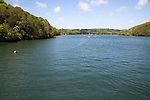 River Fal, Cornwall, England, UK viewed King Harry Ferry Bridge vehicular chain ferry crossing