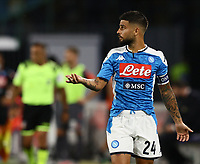 19th July 2020; Stadio San Paolo, Naples, Campania, Italy; Serie A Football, Napoli versus Udinese; Lorenzo Insigne of Napoli questions the call
