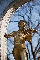 Europe/Autriche/Niederösterreich/Vienne: Le Stadtpark - Statue de Johann Strauss