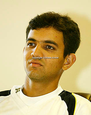20030918, Zwolle, Davis Cup, NL-India, Harsh Mankad