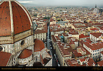 Brunelleschi Dome and Southeast Florence from top of Campanile Santa Maria del Fiore Florence