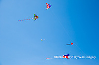 63495-02710 Kites flying at Flagler Beach Flagler Beach, FL