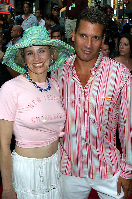 "Opening night for Broadway's newest and hottest show, ""Hairspray"" at Neil Simon Theatre. New York, August 15, 2002. Pictured are Cady Huffman and boyfriend. Please byline: Alecsey Boldeskul/NY Photo Press.   ..*PAY-PER-USE*      ....NY Photo Press:  ..phone (646) 267-6913;   ..e-mail: info@nyphotopress.com"