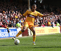 Chris Humphrey in the Motherwell v St Johnstone Clydesdale Bank Scottish Premier League match played at Fir Park, Motherwell on 28.4.12.