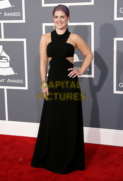 Kelly Osbourne.The 55th Annual GRAMMY Awards held at STAPLES Center, Los Angeles, California, USA..February 10th, 2013.grammys full length black hand on hip sleeveless cut out away dress   .CAP/ADM.©AdMedia/Capital Pictures.