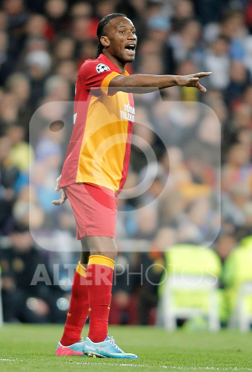 Galatasaray's Didier Drogba during UEFA Champions League match. April 03, 2013. (ALTERPHOTOS/Alvaro Hernandez)