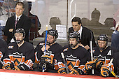 Keith Fisher, Brett Wilson, Grant Goeckner-Zoeller, Lee Jubinville, Guy Gadowsky, Darroll Powe - The Princeton University Tigers defeated the University of Denver Pioneers 4-1 in their first game of the Denver Cup on Friday, December 30, 2005 at Magness Arena in Denver, CO.