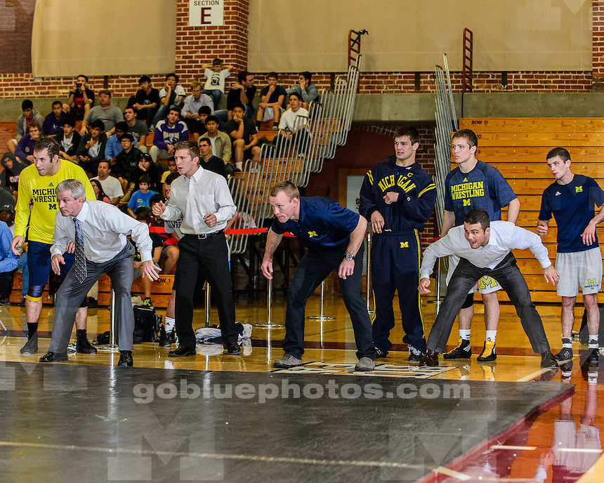 The University of Michigan wrestling team beat Stanford, 26-6, at Burnham Pavilion in Palo Alto, Calif., on November 18, 2012.