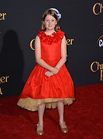 Bronte Carmichael at the world premiere of Disney's &quot;Christopher Robin&quot; at Walt Disney Studios, Burbank, USA 30 July 2018<br /> Picture: Paul Smith/Featureflash/SilverHub 0208 004 5359 sales@silverhubmedia.com