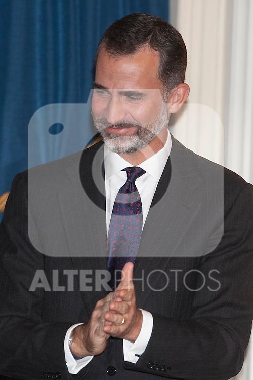 King Felipe VI of Spain attends the XXXI Francisco Cerecedo journalism awards ar Ritz hotel in Madrid, Spain. November 05, 2014. (ALTERPHOTOS/Victor Blanco)