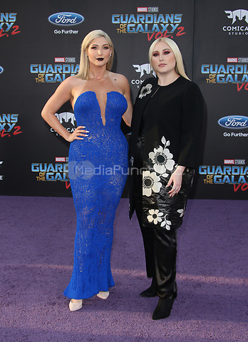 """HOLLYWOOD, CA - April 19: Taylor Ann Hasselhoff, Hayley Hasselhoff, At Premiere Of Disney And Marvel's """"Guardians Of The Galaxy Vol. 2"""" At The Dolby Theatre  In California on April 19, 2017. Credit: FS/MediaPunch"""