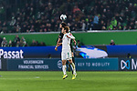 01.12.2019, Volkswagen Arena, Wolfsburg, GER, 1.FBL, VfL Wolfsburg vs SV Werder Bremen<br /> <br /> DFL REGULATIONS PROHIBIT ANY USE OF PHOTOGRAPHS AS IMAGE SEQUENCES AND/OR QUASI-VIDEO.<br /> <br /> im Bild / picture shows<br /> Robin Knoche (VfL Wolfsburg #31) im Duell / im Zweikampf mit Yuya Osako (Werder Bremen #08), <br /> <br /> Foto © nordphoto / Ewert