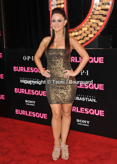 Sarah Mitchell  -  Burlesque Premiere at the Chinese Theatre In Los Angeles.