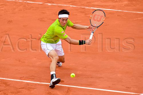 27.05.2016. Stade Roland Garros, Paris, France. Roland Garros French Open Tennis Day Six.  Kei Nishikori (jpn)