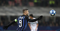 Football: UEFA Champions League -Group Stage - Group B - FC Internazionale Milano vs PSV Eindhoven, Giuseppe Meazza  (San Siro) Stadium, Milan Italy, December 11, 2018.<br /> Inter Milan's Captain Mauro Icardi in action during the Uefa Champions League football match between Inter Milan and PSV Eindhoven at Giuseppe Meazza  (San Siro) Stadium in Milan on December 11, 2018. <br /> UPDATE IMAGES PRESS/Isabella Bonotto
