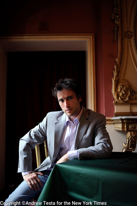 UK. London. 6th July 2009.Ed Stoppard at the Duke of York's theatre in London's West End where he is appearing in Arcadia, written by his father Tom Stoppard..©Andrew Testa for the New York Times