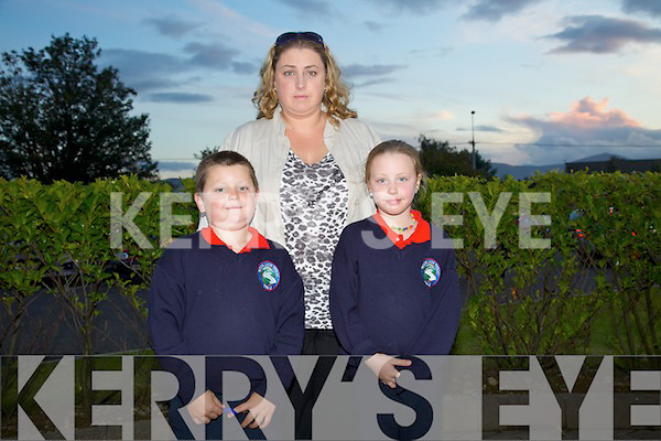 Cian Harris, Shauna Harris and Linda Harris celebrating the 150th Anniversary of Listellick School at a Mass at St. Brendans Church on Friday.