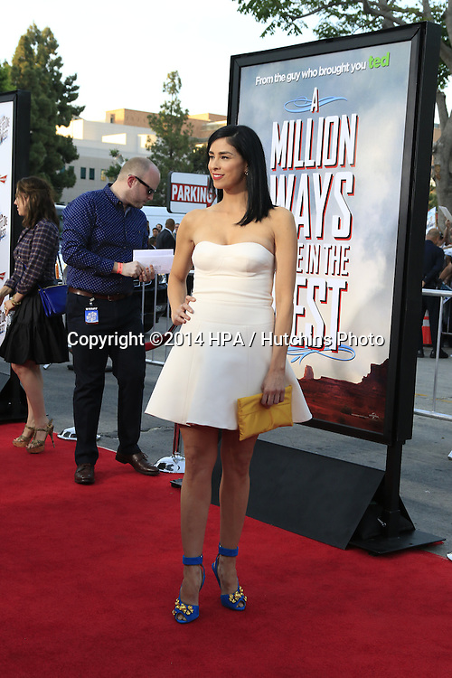"""LOS ANGELES - MAY 15:  Sarah Silverman at the """"A Million Ways To Die In The West"""" World Premiere at Village Theater on May 15, 2014 in Westwood, CA"""