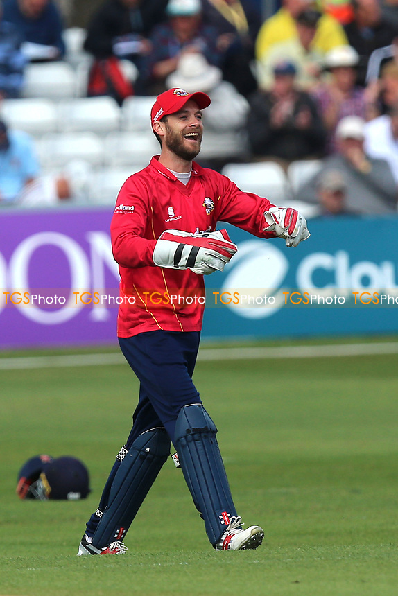 James Foster of Essex celebrates his catch to dismiss Adam Voges during Essex Eagles vs Middlesex, Royal London One-Day Cup Cricket at The Cloudfm County Ground on 12th May 2017