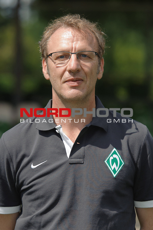 30.07.2012, Platz 11, Bremen, GER, RLN, Spielerportraits Werder Bremen II, im Bild Dr.Uwe Harttgen (Direktor Leistungszentrum Werder Bremen)<br /> <br /> // during photo shooting Werder Bremen II on 2012/07/30, Platz 11, Bremen, Germany.<br /> Foto &copy; nph / Frisch *** Local Caption ***