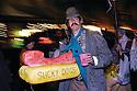 Krewe Du Vieux parade-reveler costumes fictitious character Ignatius Reilly, 2004