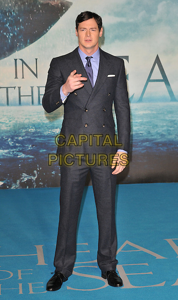 Benjamin Walker attends the &quot;In The Heart Of The Sea&quot; European film premiere, Empire cinema, Leicester Square, London, UK, on Wednesday 02 December 2015.<br /> CAP/CAN<br /> &copy;CAN/Capital Pictures
