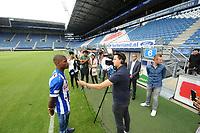 VOETBAL: HEERENVEEN: 27-07- 2017, Abe Lenstra Stadion, SC Heerenveen, presentatie Denzel Dumfries, ©foto Martin de Jong