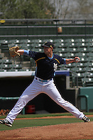 Myrtle Beach Pelicans pitcher Andrew Faulkner #39 throwing from the mound during a team workout at Ticketreturn.com Field at Pelicans Ballpark on April 1, 2014 in Myrtle Beach, South Carolina. (Robert Gurganus/Four Seam Images)