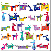 Kate, CUTE ANIMALS, LUSTIGE TIERE, ANIMALITOS DIVERTIDOS, paintings+++++Bright Dogs,GBKM47,#ac#, EVERYDAY ,dogs,dog