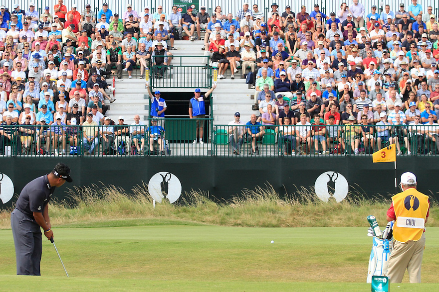 KJ CHOI (KOR) in action during the second round of the 143rd Open Championship played at Royal Liverpool Golf Club, Hoylake, Wirral, England. 17 - 20 July 2014 (Picture Credit / Phil Inglis)