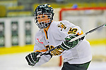 8 February 2009: University of Vermont Catamounts' defenseman Hannah Westbrook, a Sophomore from Laramie, WY, in action against the University of New Hampshire Wildcats in the second game of a weekend series at Gutterson Fieldhouse in Burlington, Vermont. The Wildcats defeated the lady Catamounts 6-2 to sweep the 2-game series. Mandatory Photo Credit: Ed Wolfstein Photo