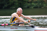 Race: 98  MasG.1x  Semi-Final<br /> 186  Grosvenor Rowing Club, Chester (Walker)<br /> 187  Durham Amateur Rowing Club (Jaggard)<br /> <br /> Henley Masters Regatta 2018 - Friday<br /> <br /> To purchase this photo, or to see pricing information for Prints and Downloads, click the blue 'Add to Cart' button at the top-right of the page.