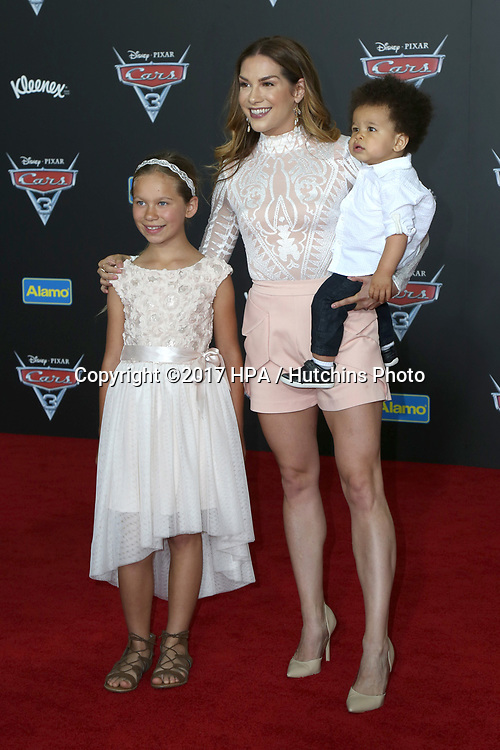 """LOS ANGELES - JUN 10:  Weslie Fowler, Allison Holker, Maddox Laurel Boss at the """"Cars 3"""" Premiere at the Anaheim Convention Center on June 10, 2017 in Anaheim, CA"""