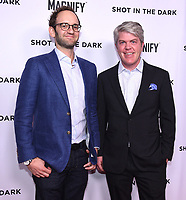 """WEST HOLLYWOOD - FEBRUARY 15: Fox Sports Gabe Spitzer and Charlie Dixon arrives for the LA screening of Fox Sports """"Shot in the Dark"""" at the Pacific Design Center on February 15, 2018 in West Hollywood, California.(Photo by Frank Micelotta/Fox/PictureGroup)"""