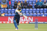 Lahiru Thrimanne (Sri Lanka) plays a free hit down the ground for four during Afghanistan vs Sri Lanka, ICC World Cup Cricket at Sophia Gardens Cardiff on 4th June 2019
