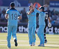 Mark Wood (England) celebrates the wicket of Henry during England vs New Zealand, ICC World Cup Cricket at The Riverside Ground on 3rd July 2019