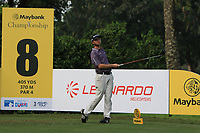 Austin Connelly (CAN) in action on the 8th tee during Round 1 of the Maybank Championship at the Saujana Golf and Country Club in Kuala Lumpur on Thursday 1st February 2018.<br /> Picture:  Thos Caffrey / www.golffile.ie<br /> <br /> All photo usage must carry mandatory copyright credit (© Golffile | Thos Caffrey)