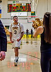 18 December 2018: University of Vermont Catamount Forward Anthony Lamb, a Junior from Toronto, Ontario, leaves the court after the second overtime period win against the St. Bonaventure University Bonnies at Patrick Gymnasium in Burlington, Vermont. The Catamounts defeated the Bonnies 83-76 in a double-overtime NCAA DI game. Mandatory Credit: Ed Wolfstein Photo *** RAW (NEF) Image File Available ***