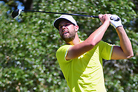 Kevin Tway (USA) watches his tee shot on 2 during round 4 of the Valero Texas Open, AT&amp;T Oaks Course, TPC San Antonio, San Antonio, Texas, USA. 4/23/2017.<br /> Picture: Golffile | Ken Murray<br /> <br /> <br /> All photo usage must carry mandatory copyright credit (&copy; Golffile | Ken Murray)