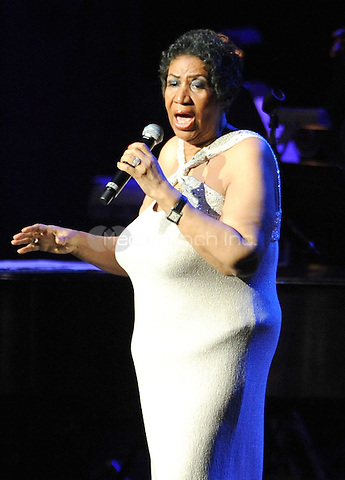 "New York, NY- June 15: ""The Queen Of Soul"" Aretha Franklin performs at Radio City Music Hall on June 15, 2014  in New York City. Credit: John Palmer/MediaPunch"